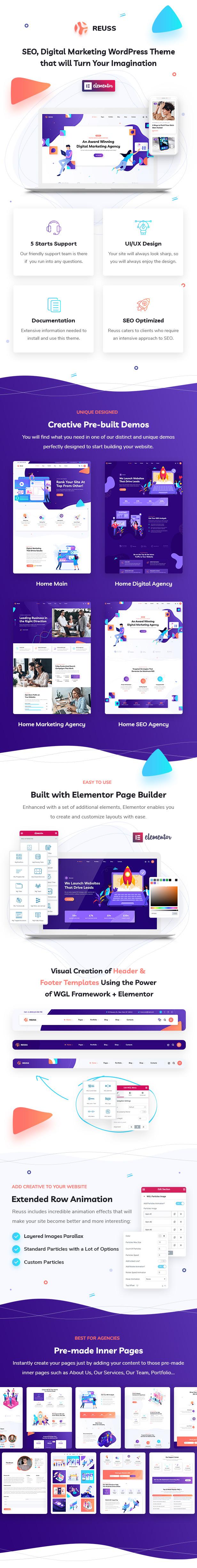 Reuss - SEO Marketing Agency WordPress Theme - 1